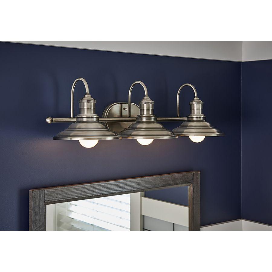 Bathroom Vanity Light Lowes: Allen + Roth 3-Light Hainsbrook Antique Pewter Bathroom