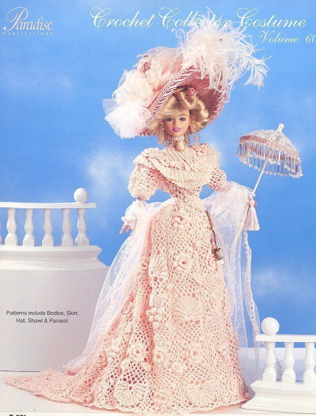 1904 Irish Lace Seaside Costume for Barbie Doll Paradise 60 Crochet PATTERN NEW