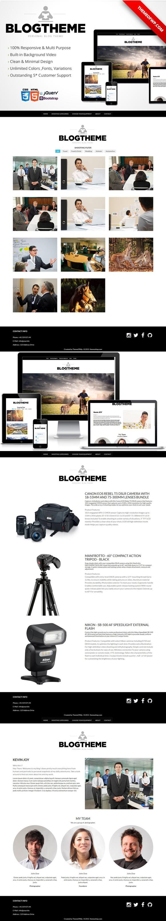 BlogTheme Responsive Bootstrap HTML. Bootstrap Templates. $9.00 ...