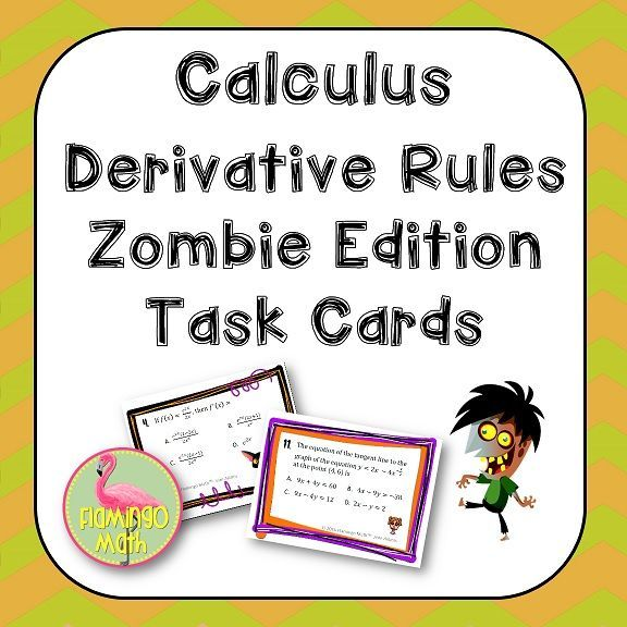 Have a little fun practicing derivative rules with a Zombie theme ...