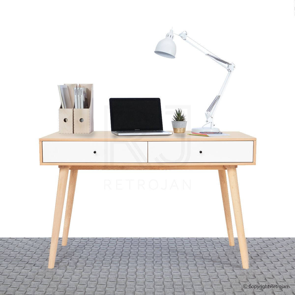 Scandinavian Style Desk aud 399 -- jorgen scandinavian style office desk | retrojan