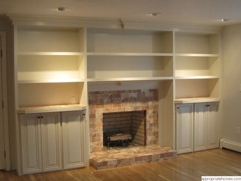 Built In Bookshelves Plans Around Fireplace  Woodworktips - Fireplace with bookshelves