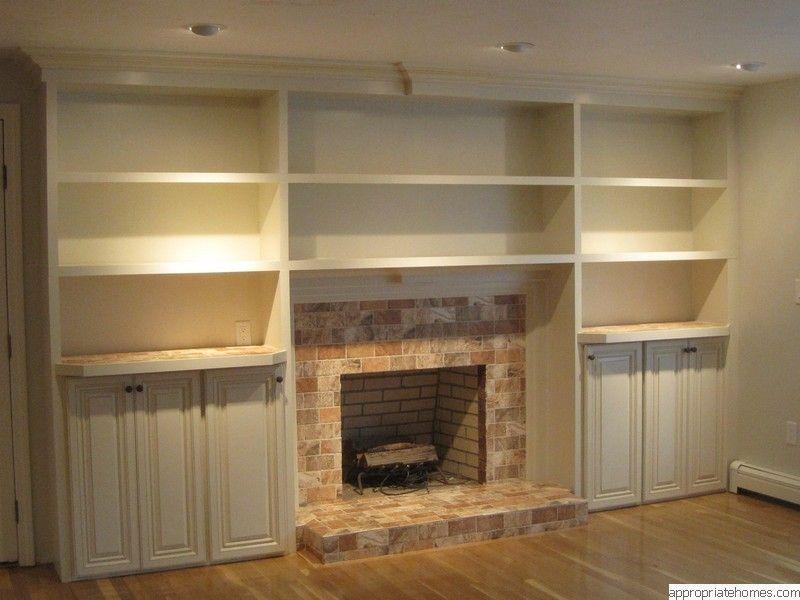 Built In Bookshelves Plans Around Fireplace 187 Woodworktips