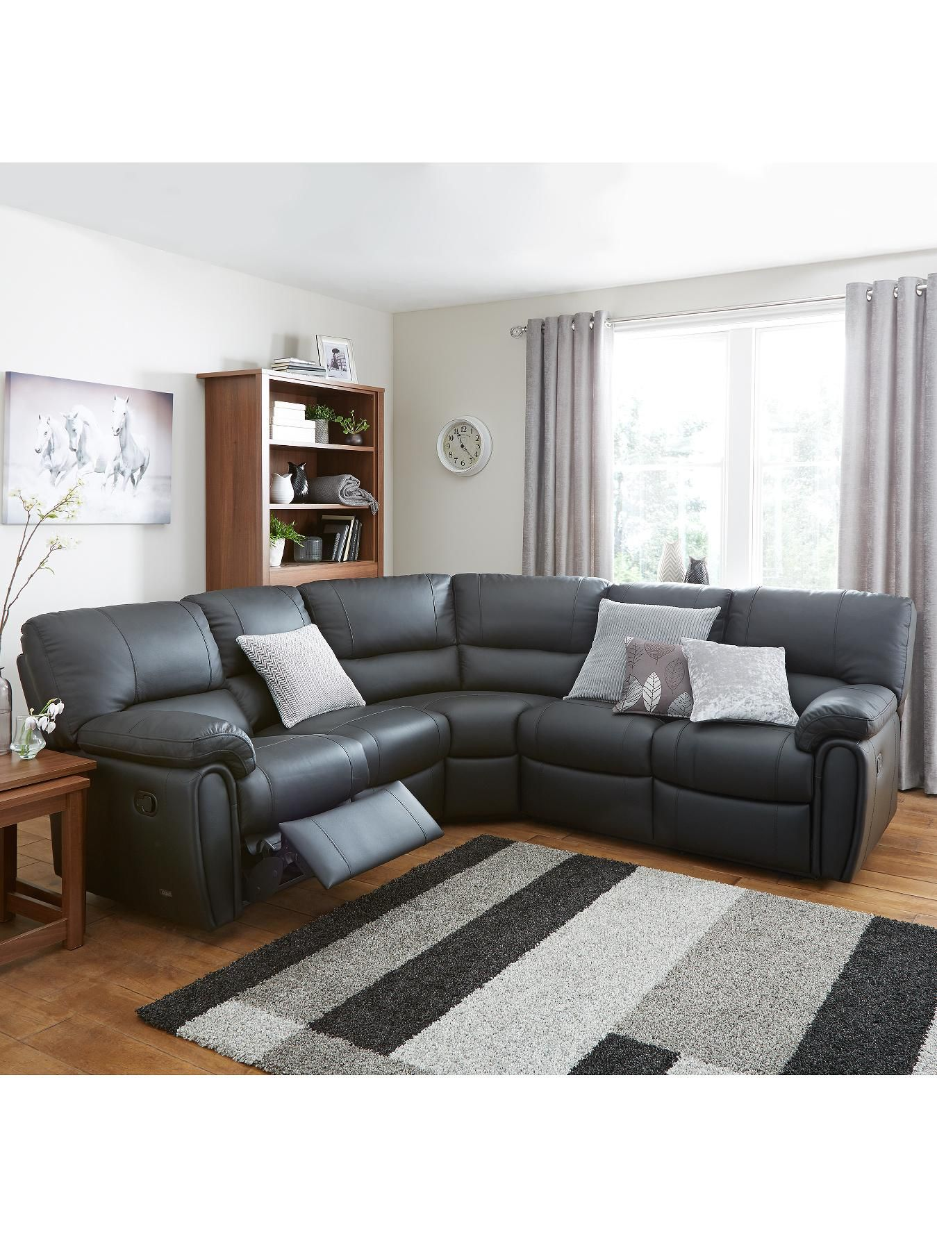 Violino Leighton Leather/Faux Leather Reclining Corner Group Sofa ...
