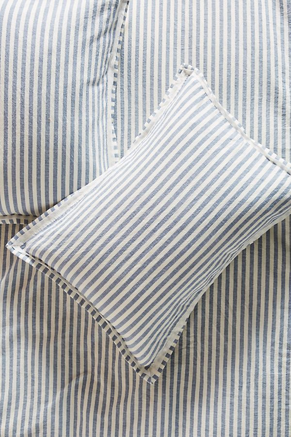 Relaxed Euro Sham Linen duvet, Cotton linen