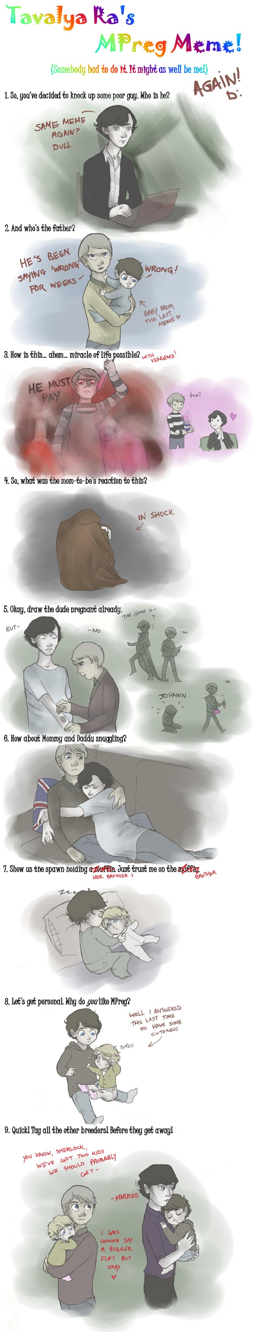 Sherlock Mpreg Meme - THE SEQUEL by wasitelves.deviantart.com on @deviantART