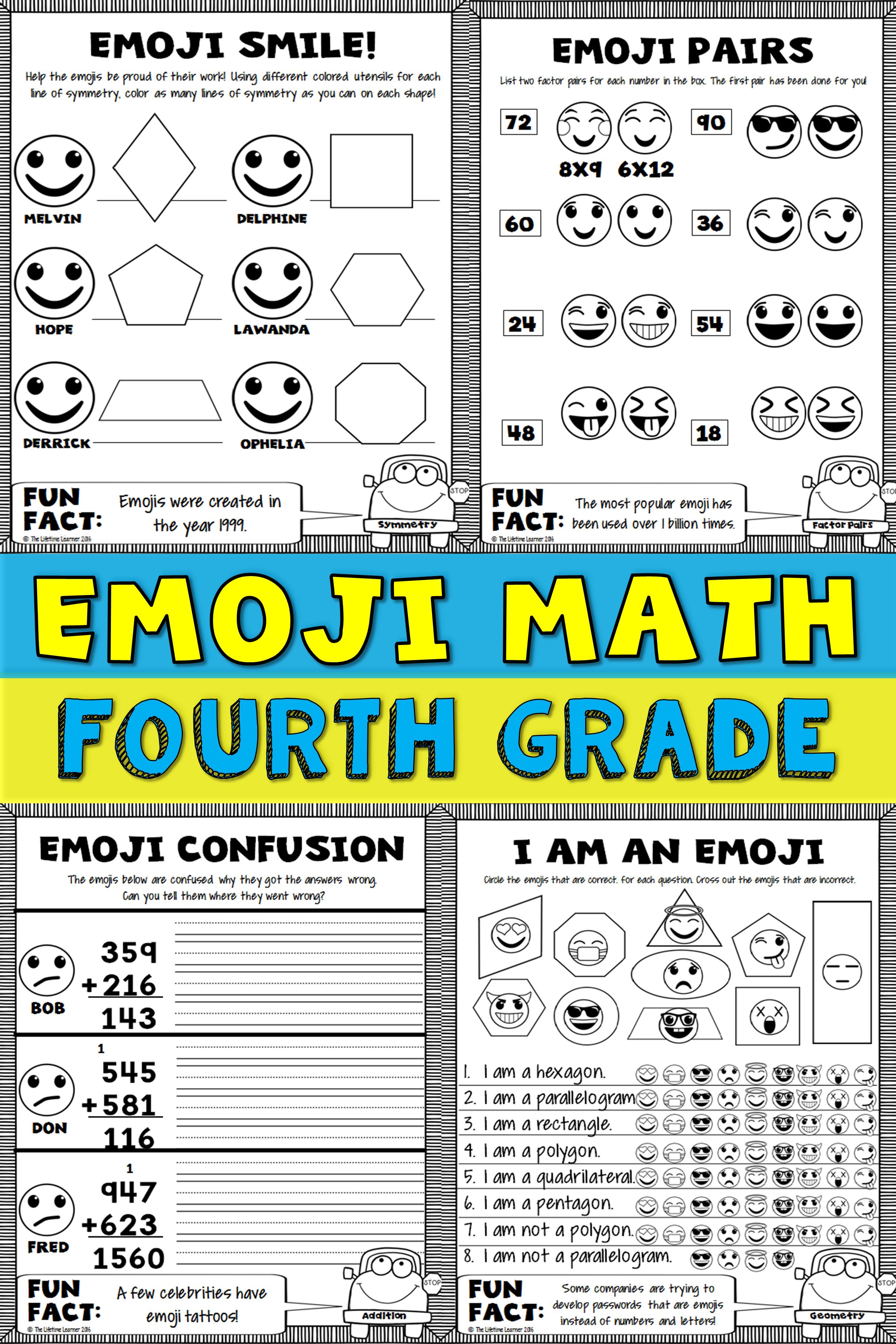 4th Grade Emoji Math