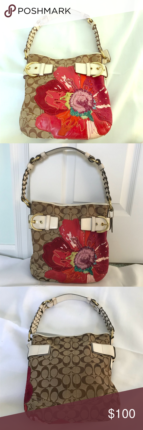 Coach poppy flower purse images fresh lotus flowers coach poppy flower handbag coach poppy braided leather and red purple mightylinksfo