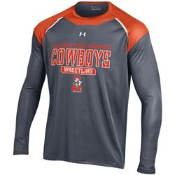 Oklahoma State Under Armour Perpetual LS Performance T