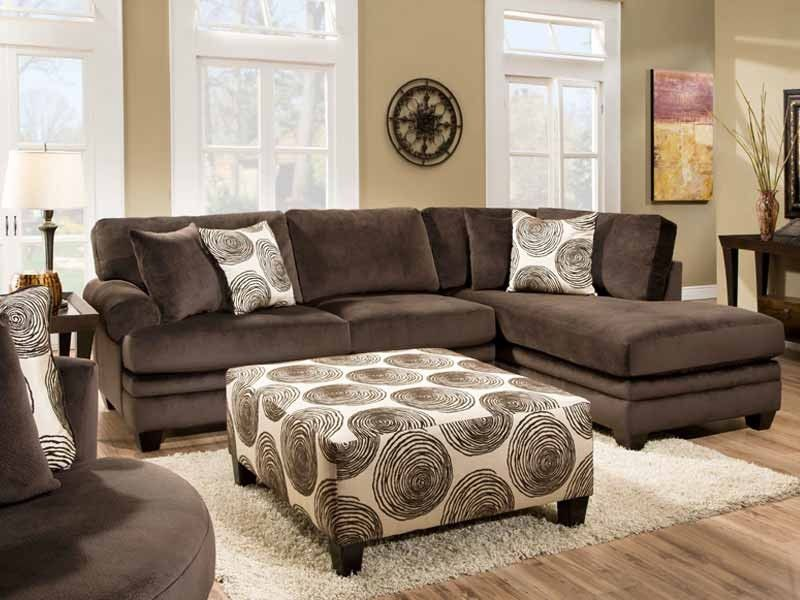 Groovy Chocolate Sectional Sectional Sofa Furniture Living Room Furniture