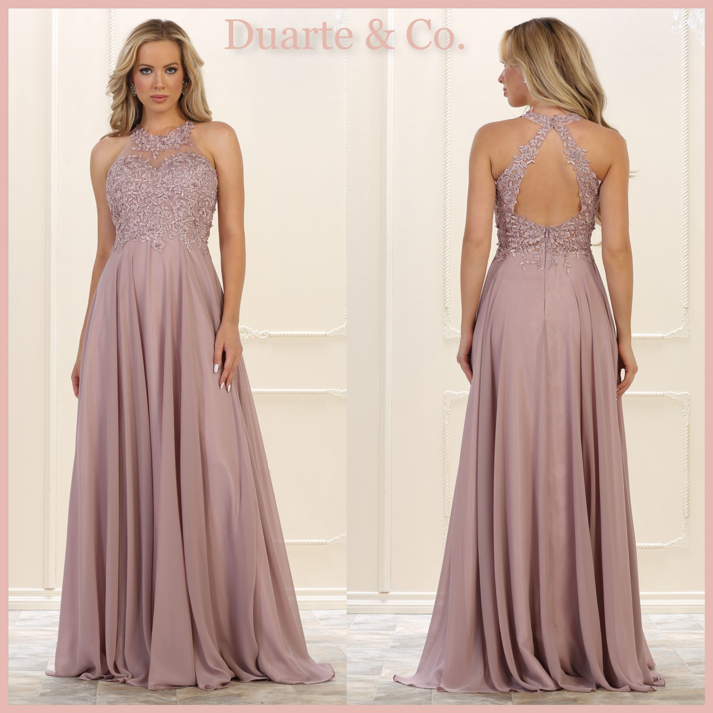1df976b2ed4 LC215572  150.00 Long Halter Chiffon Dress W Plus Sizes Comes in 5 colors  Available in PLUS sizes 4 to size 20.