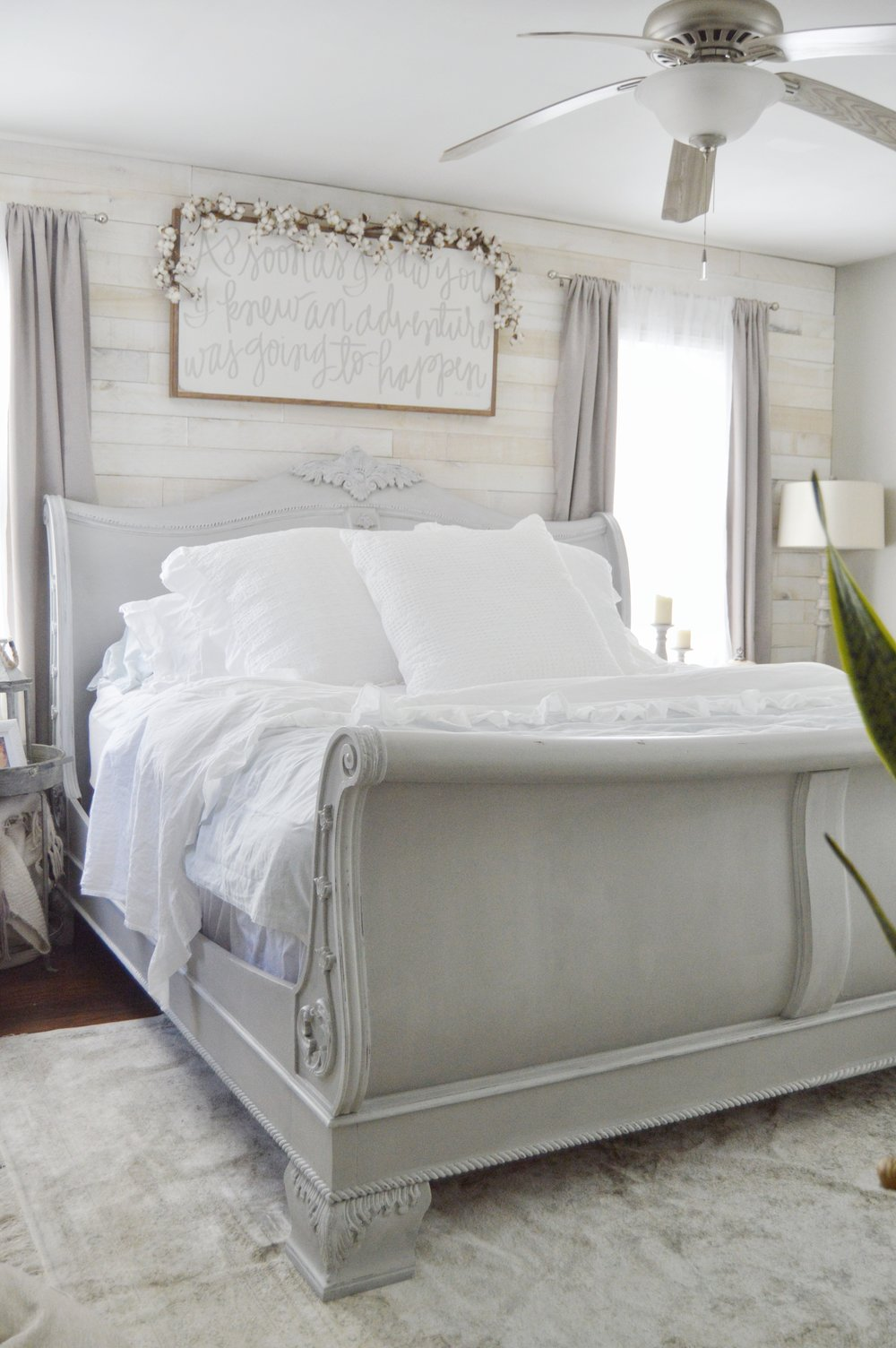 King Sleigh Bed Makeover Using Chalk Paint Bed Makeover Bedroom