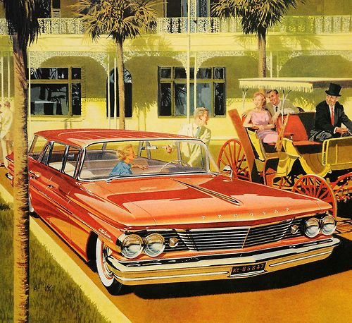 Pontiac Car Wallpaper: 1960 Pontiac Safari Wagon.