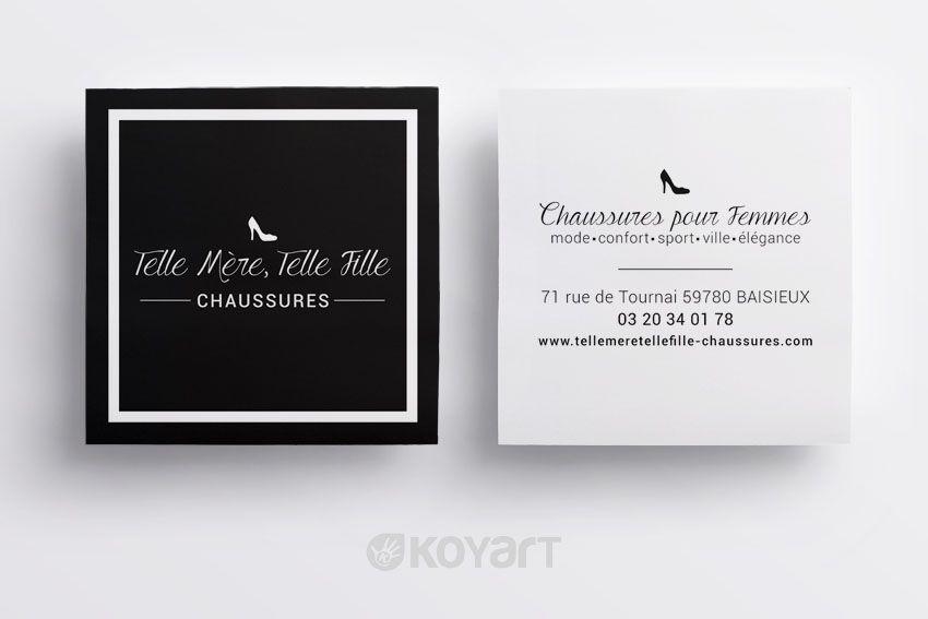Cration Carte De Visite Boutique Chaussures Baisieux 59