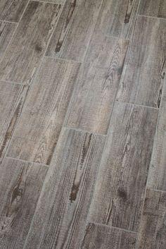 Wood Tile Flooring In Bathroom