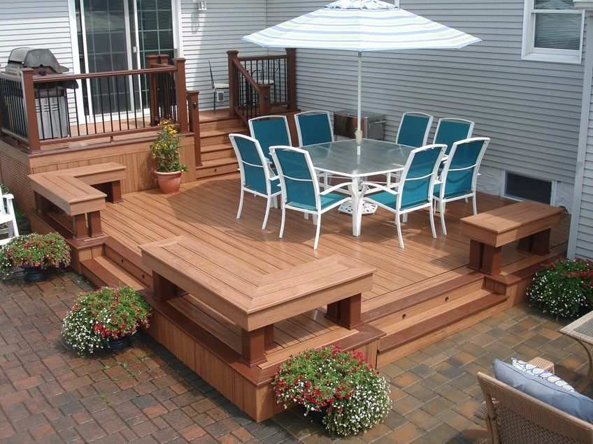 Pictures Of Sundecks Stairs And Benches: Massapequa Small Deck - Picture 3663 - Decks.com