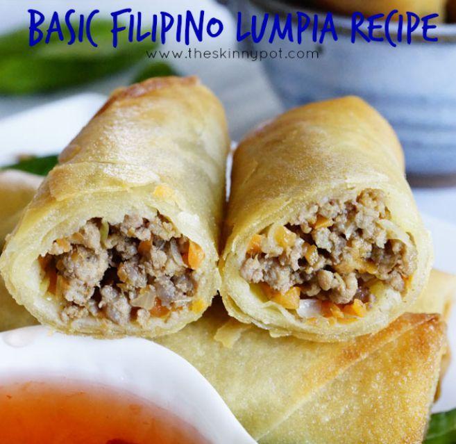 Photo of Easy Filipino Lumpia Recipe | The Skinny Pot