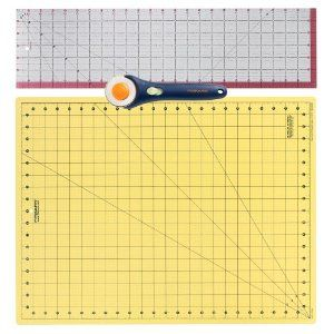 Fiskars 3 Piece Quilting Set For 30 26 Self Healing Mat Acrylic Ruler And Rotary Cutter Quilt Piecing Quilts Acrylic Cutter
