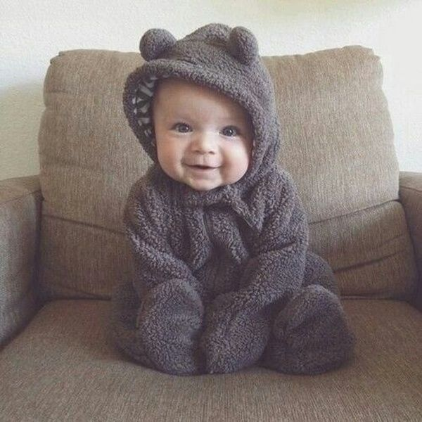 Kids Autumn and Winter Animal Style Jumpsuit Three-dimensional Coral Fleece Baby Romper Bag Feet Climbing Clothes | Wish
