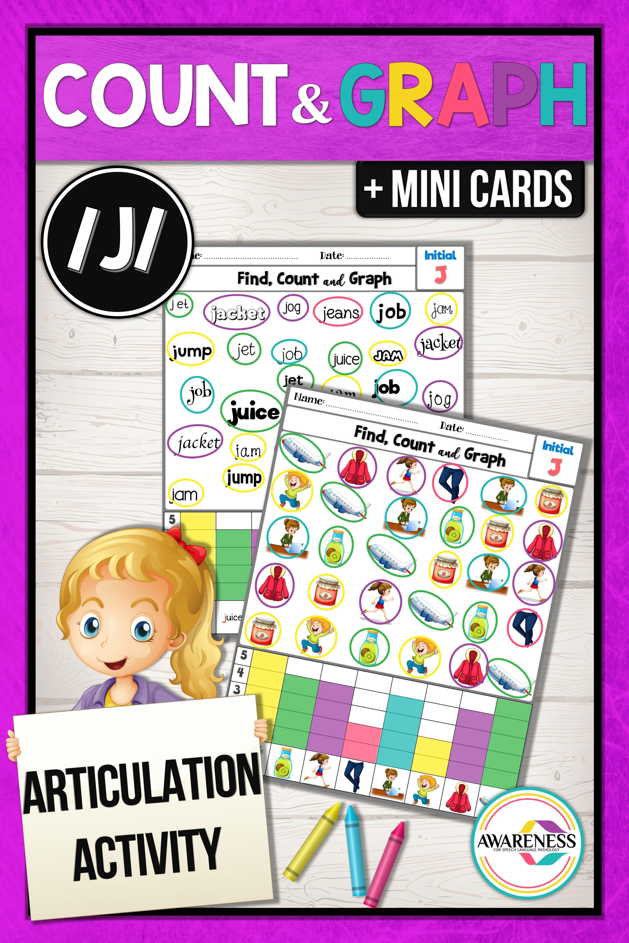 J Articulation Activity Worksheets For Speech Therapy