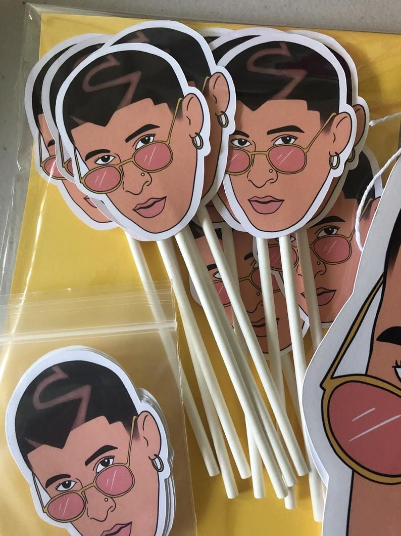 Bad bunny inspired party pack party in a bag party in a