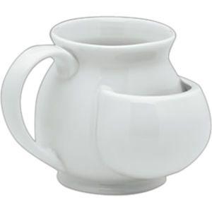 Mug with tea bag holder for mom