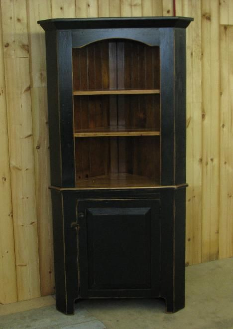 Amish Kitchen Corner Hutch