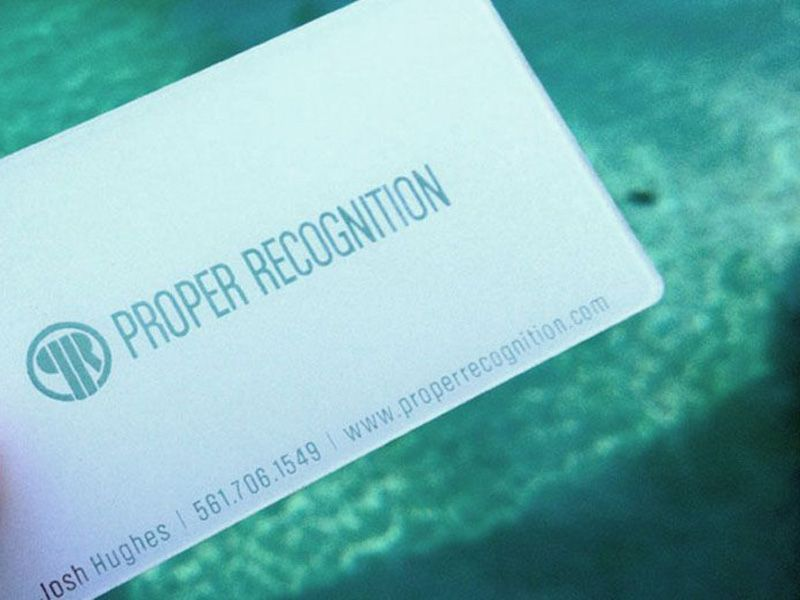 Plastic business cards for something different then the typical ...