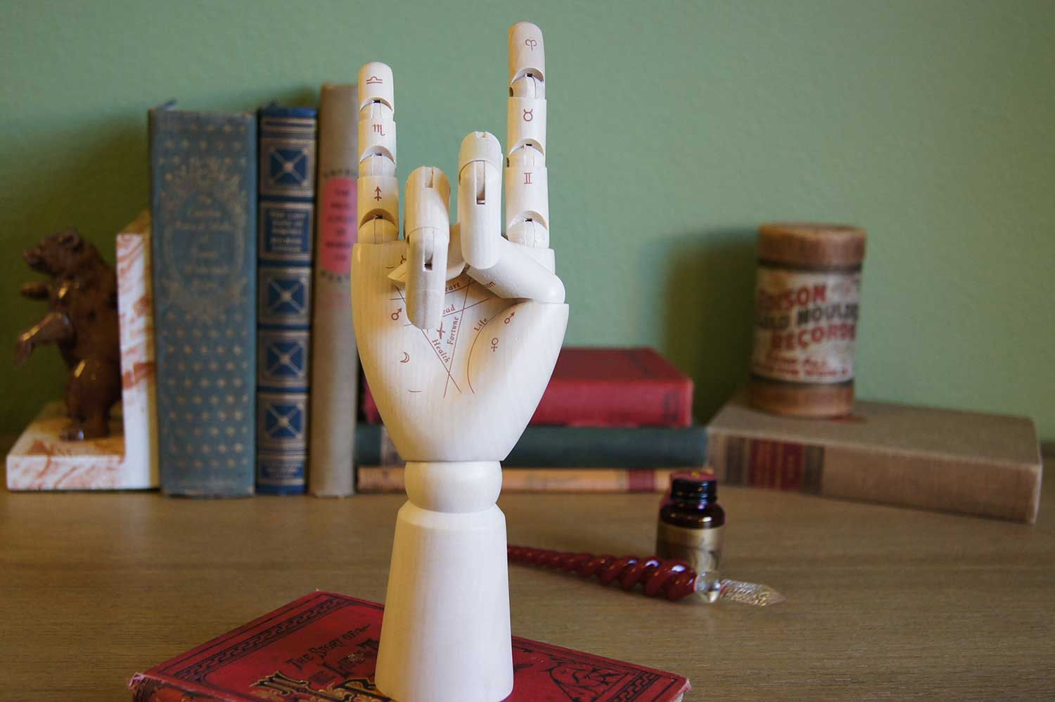 Artist's Palmistry Hand Model by ArcaneObjects on Etsy