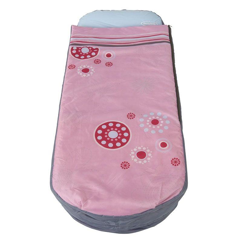 Matelas gonflable enfant avec sac de couchage int gr readybed rose petit petit - Sac de couchage garcon avec matelas integre ...