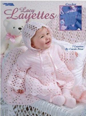 Lacy Layettes Baby Crochet Pattern Book Pinterest Layette