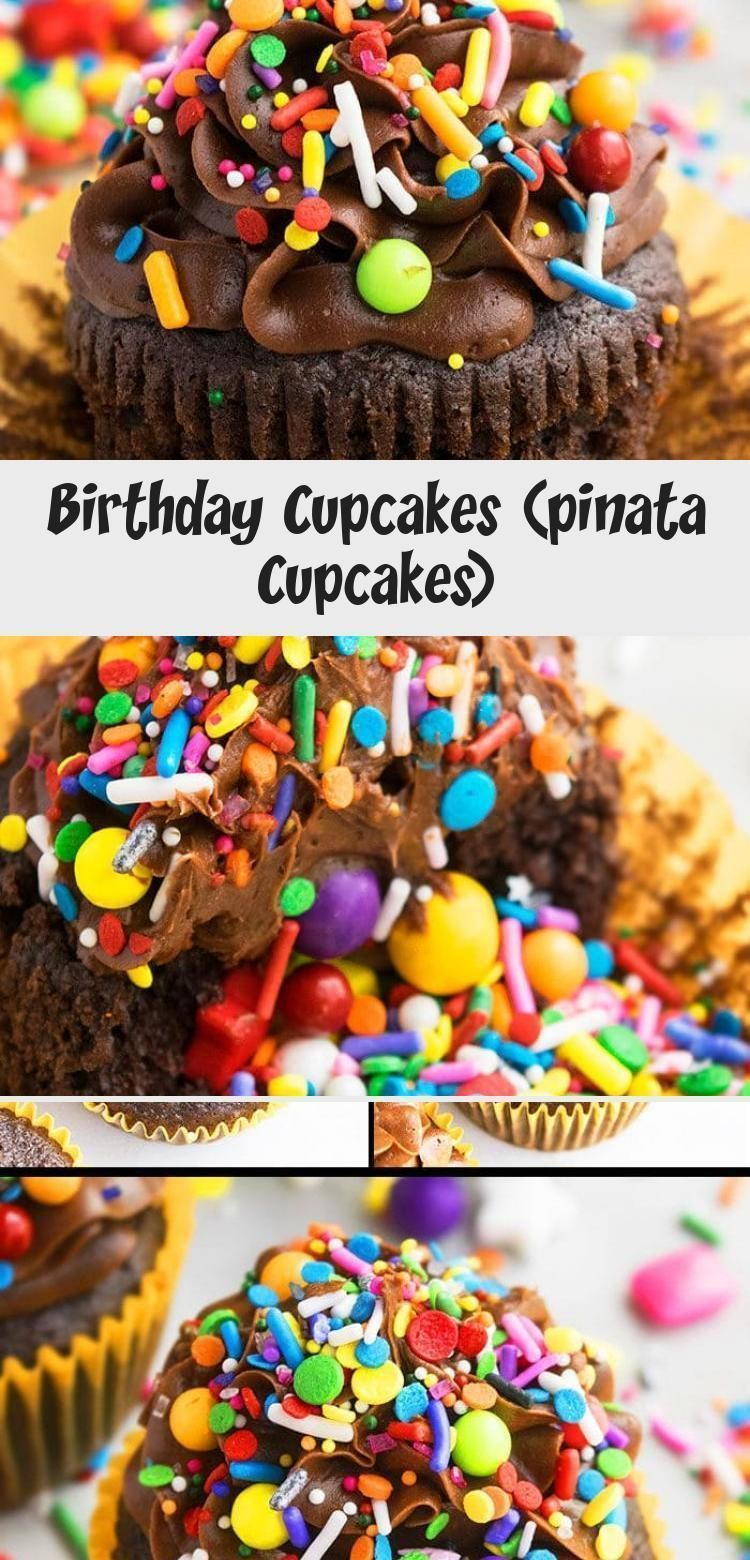 Photo of Geburtstag Cupcakes (Pinata Cupcakes) – CakeWhiz #PinataKuchenSchoko #PinataKuch…