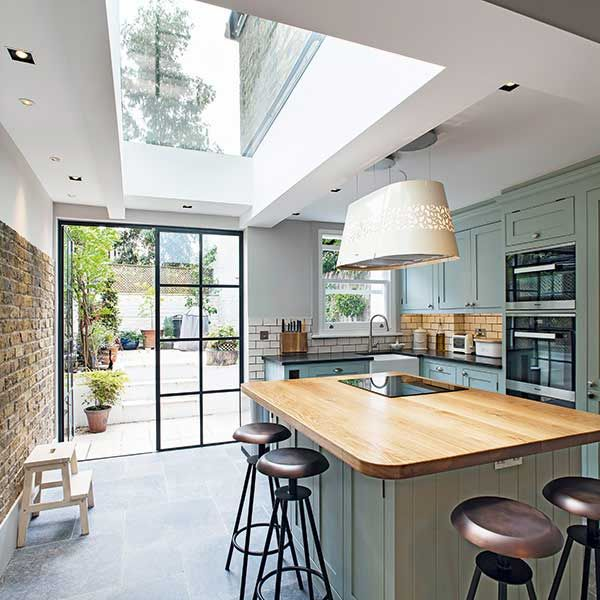 chris dyson side return kitchen diner with rooflight and crittal ...
