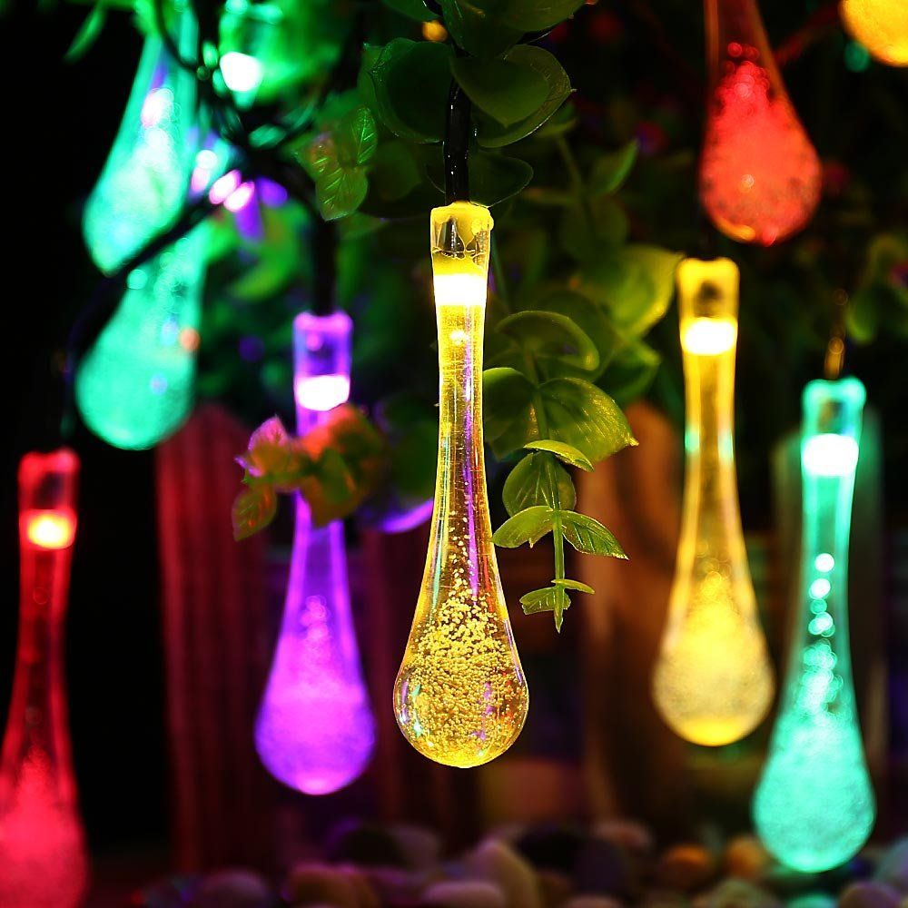 Icicle solar led outdoor string lights water drop 20leds 8 modes cheap solar christmas lights buy quality light for garden directly from china solar fairy string lights suppliers ledertek premium quality 30 led solar aloadofball Gallery