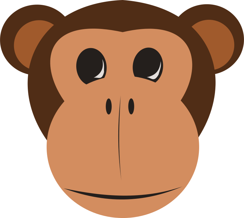 free clipart monkey face animals crafts pinterest kindergarten rh pinterest com monkey face clip art black and white monkey face clip art free