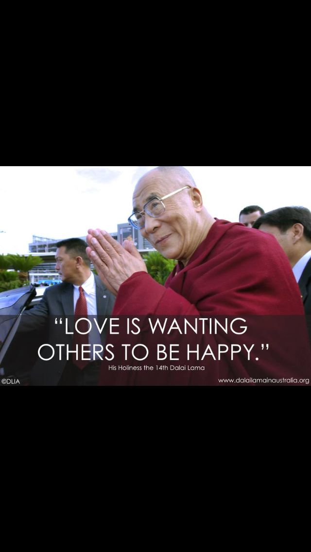 Love is wanting others to be happy.