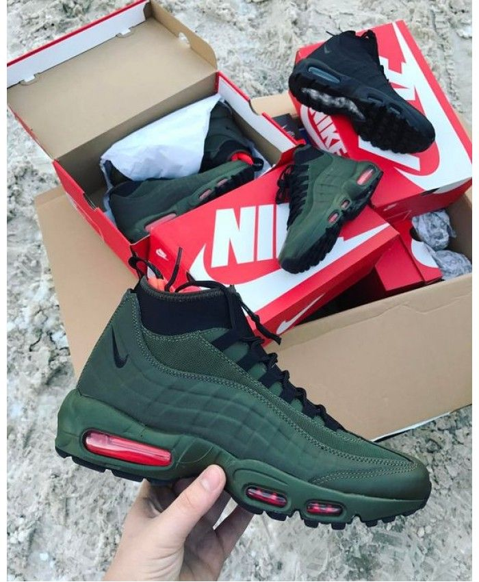 pick up cd27f bb311 Nike Air Max 95 Sneakerboot In Green | Fashion (Community ...
