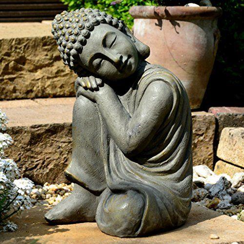 Bouddha Statuette Chinois 43 Cm Decoration Zen Pour