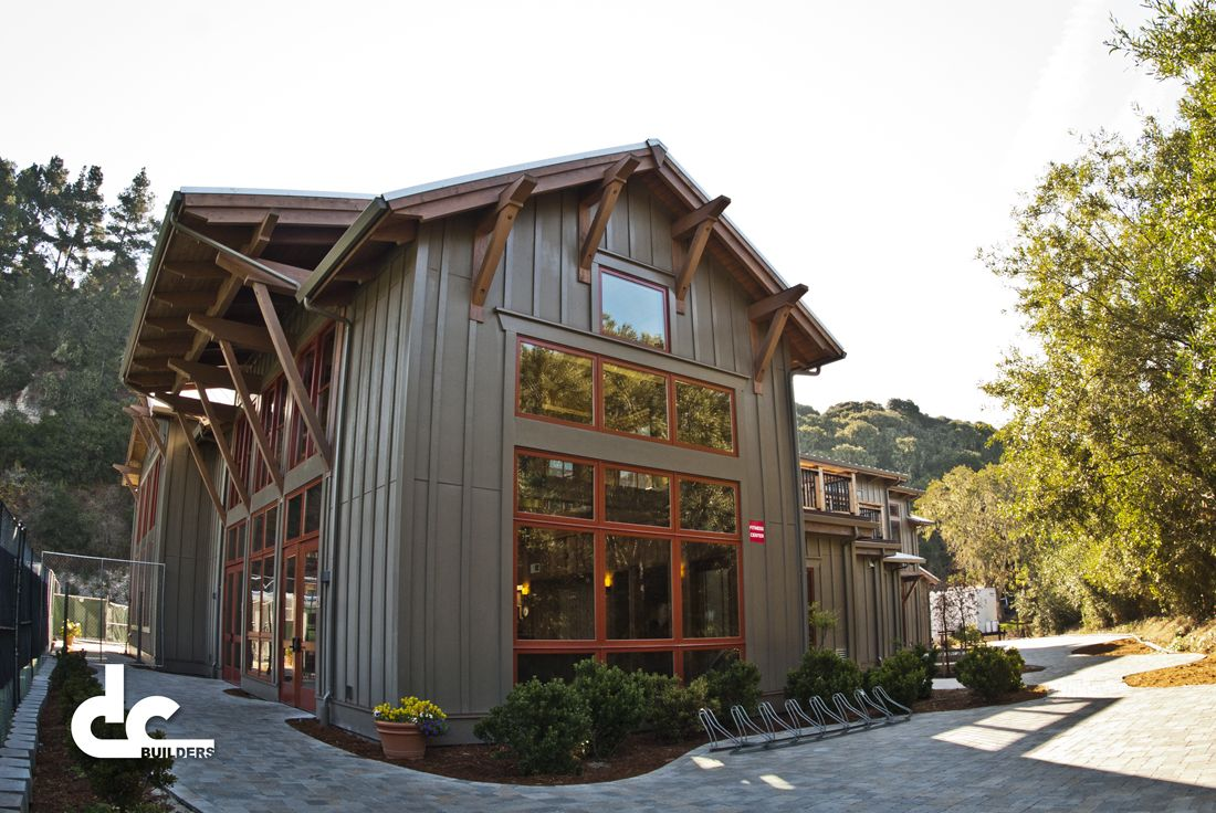 Tall Windows Timber Frame Athletic Facility In Carmel