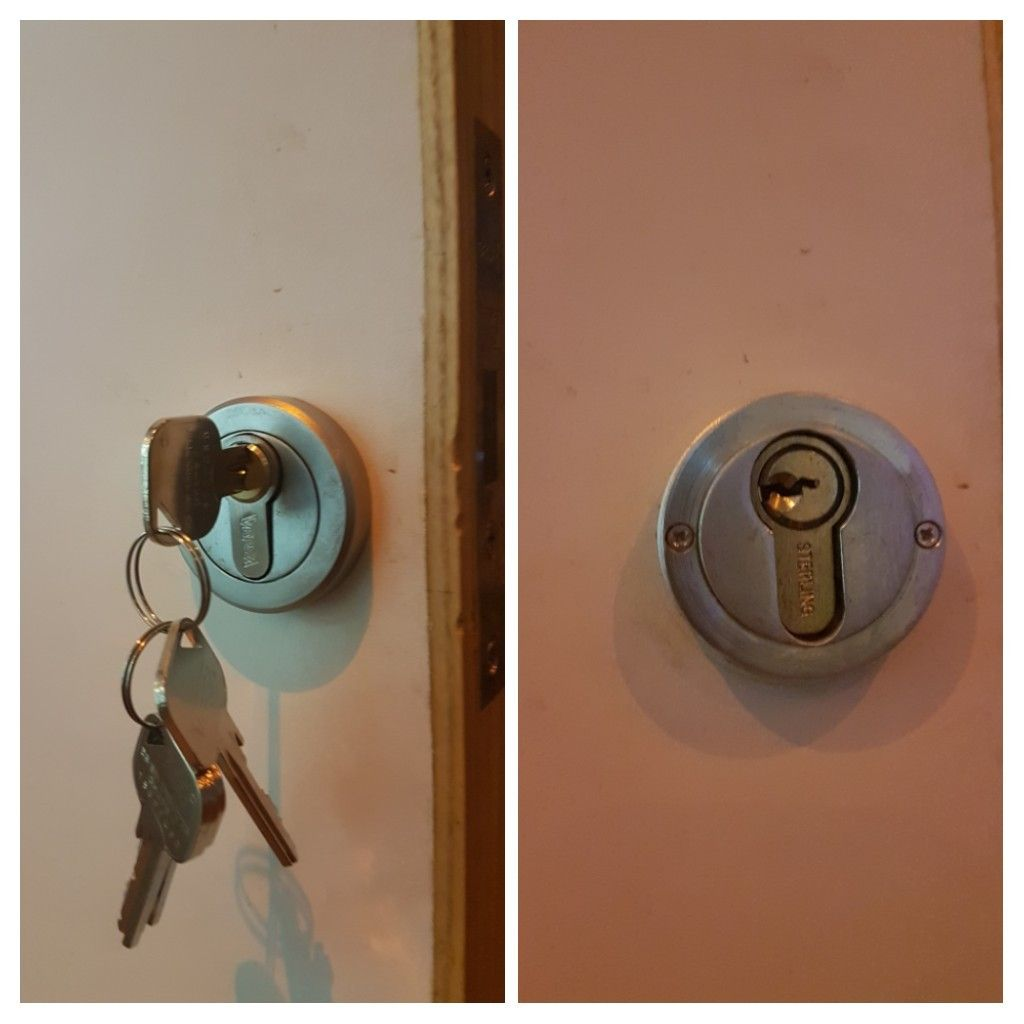 lost keys to a plant room door old lock picked open new anti