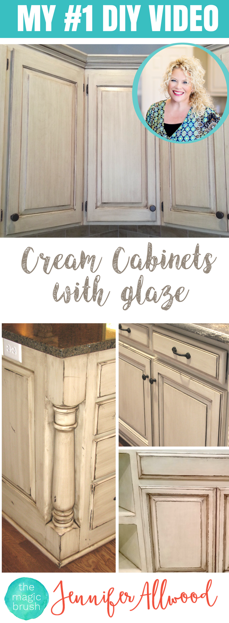 Learn to paint a cream cabinet with glaze cream cabinets kitchen styling and farmhouse kitchens - How to glaze kitchen cabinets cream ...