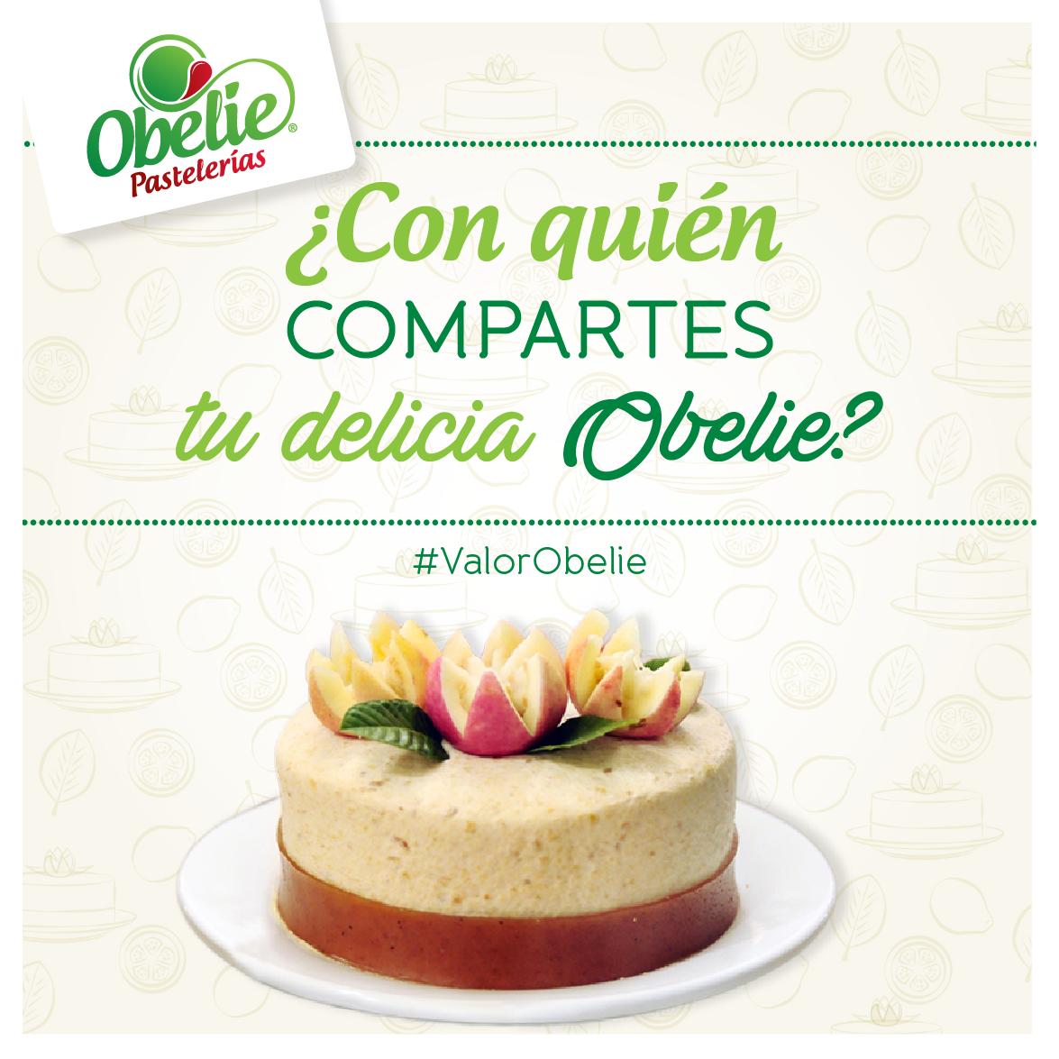 Porque siempre se disfruta mejor con compañía... Con quién compartes el sabor de #Obelie ?