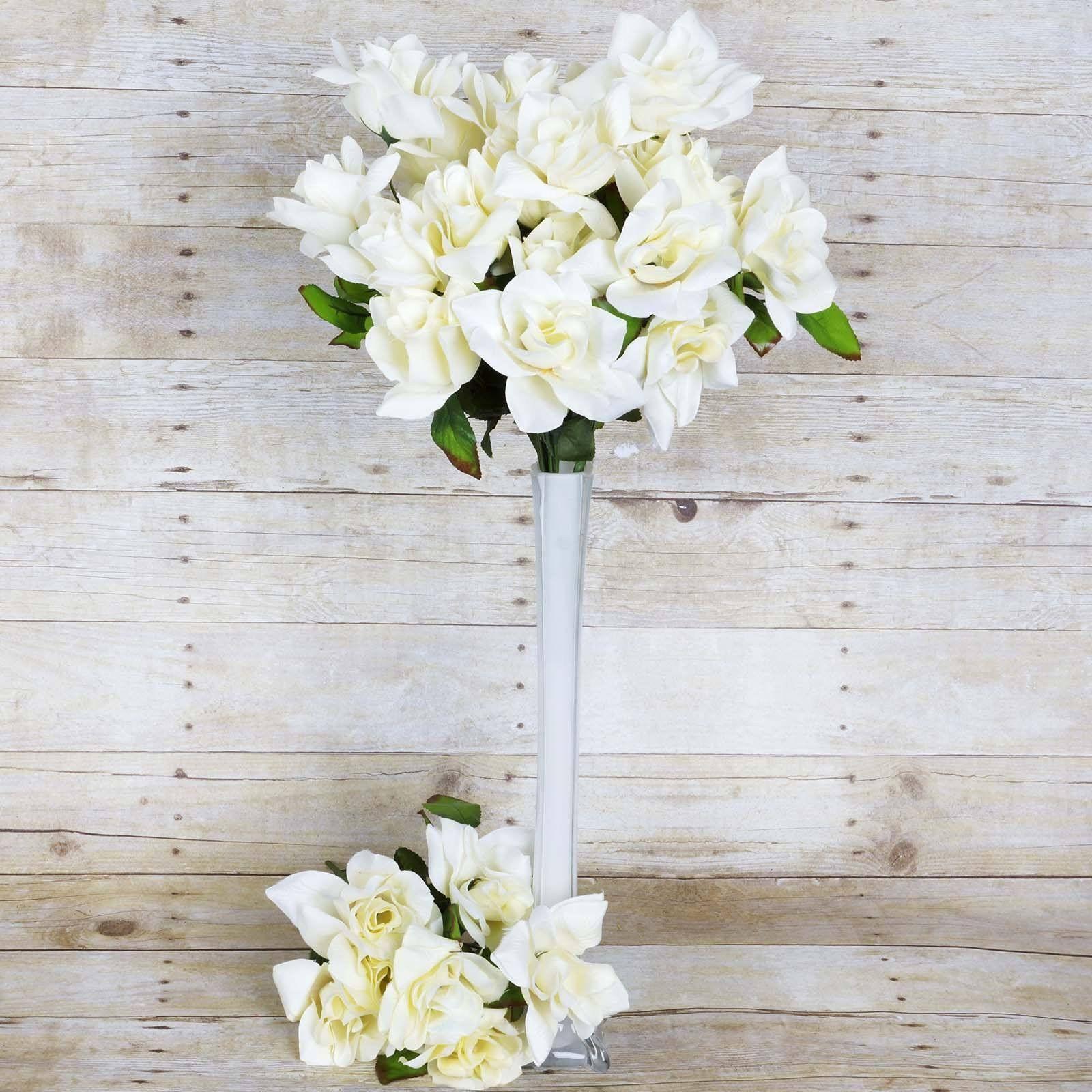 168 Artificial Cream Velvet Bloom Rose Flowers Wedding Bridal