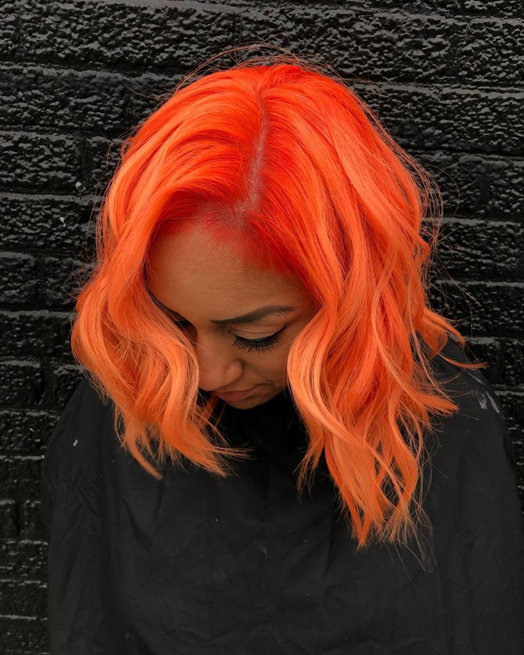Arctic Fox Hair Color Lizzvargashair Orange Is One Of My Favorite Colors Finished My Day Creating This Bright Hair Colors Fox Hair Dye Neon Hair Color