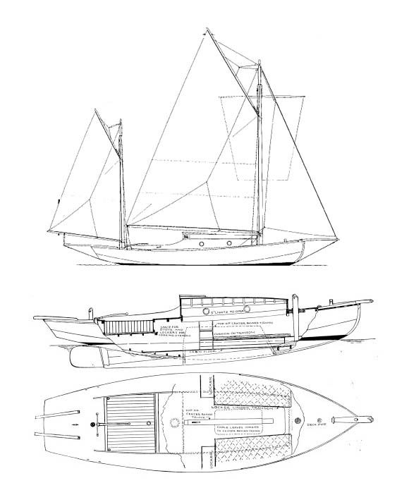 Sea Bird Yawl Plans Available From The Wooden Boat Store Boat