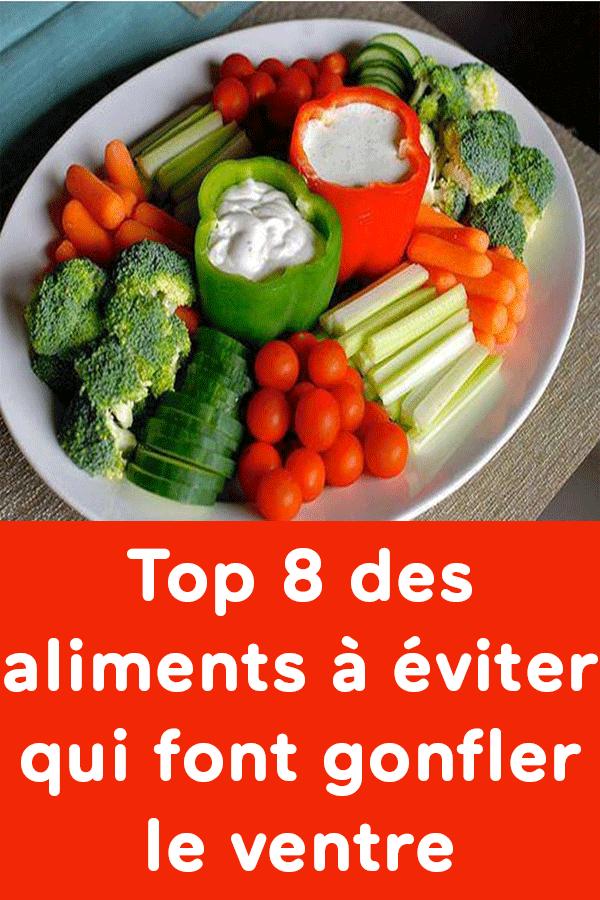 Top 8 des aliments à éviter qui font gonfler le ventre