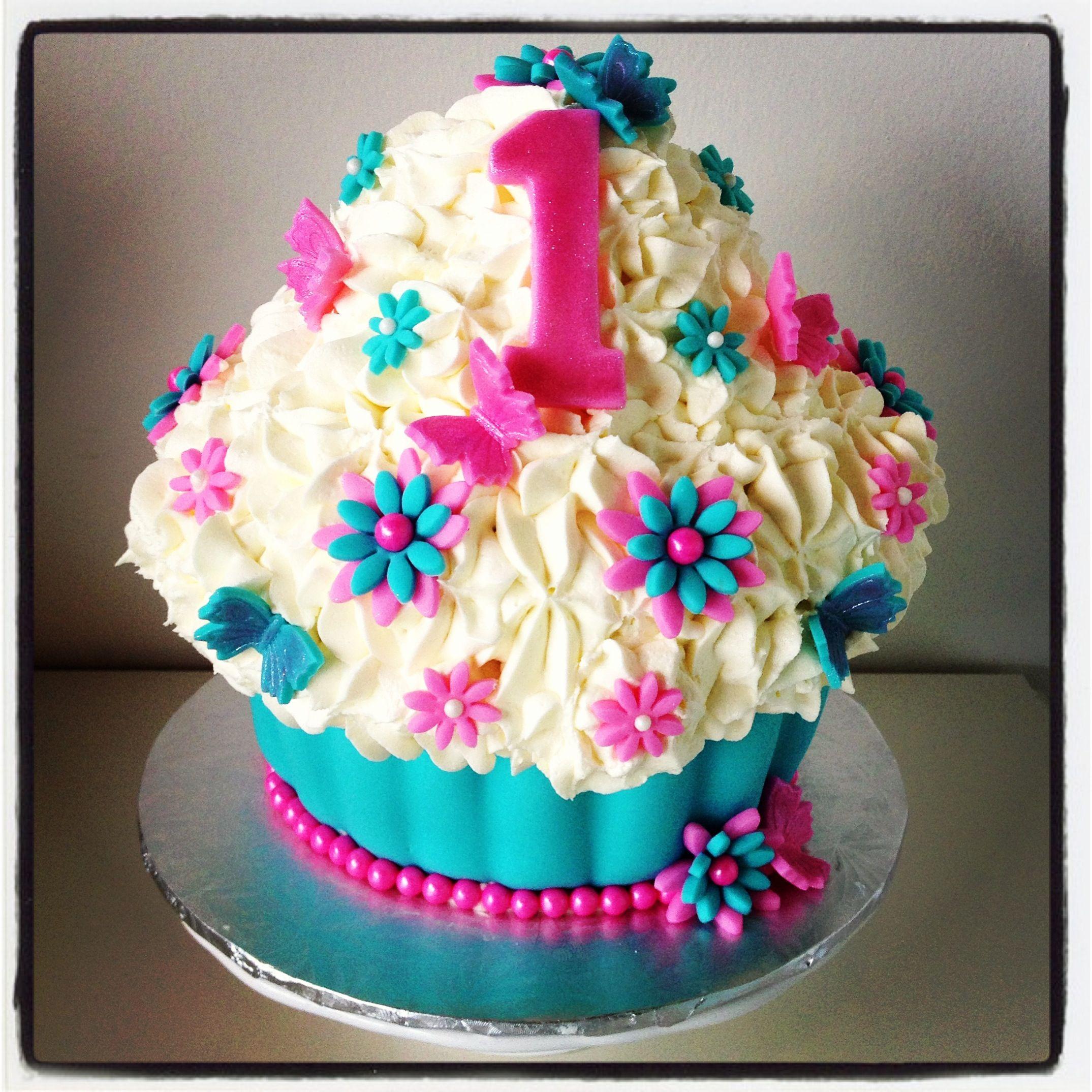 Smash Cake Yummy First Bday Cake