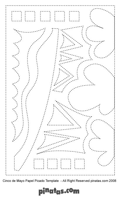 Papel picado 3 sink o dee my o pinterest papel for Papel picado template for kids