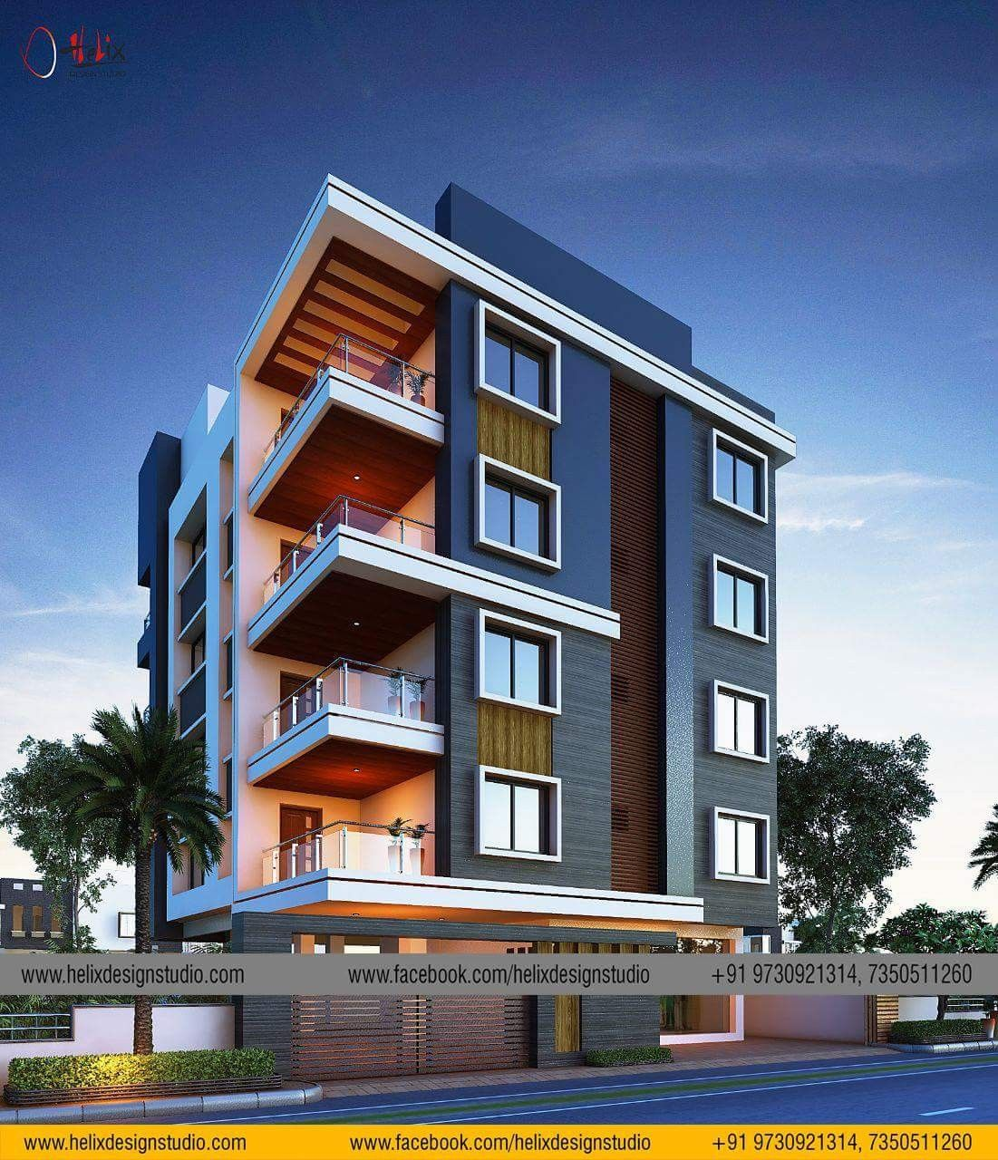 Pin By Siddharth Bidhuri On Elevation 3 Apartments Exterior Small Apartment Building Building Facade