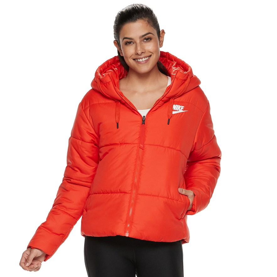 the best attitude 3a0d4 e4187 Women s Nike Sportswear Reversible Synthetic Fill Jacket, Size  Large,  Light Red